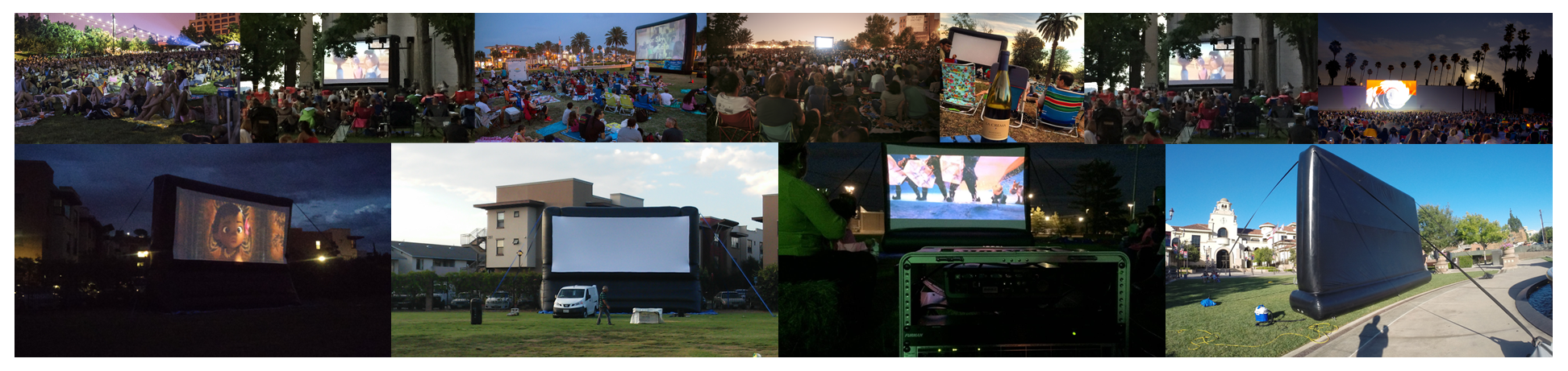 field and park inflatable movie screen rental