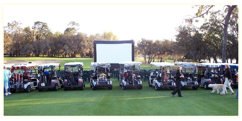 Golf Course Drive In Movie
