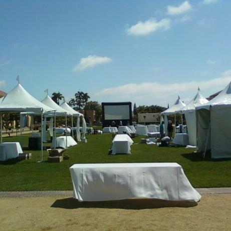 wedding inflatable movie screen rental