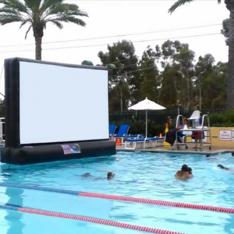 Swimming Pool Movie Screen Rental