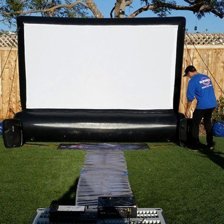 Backyard Movie Screen Rental